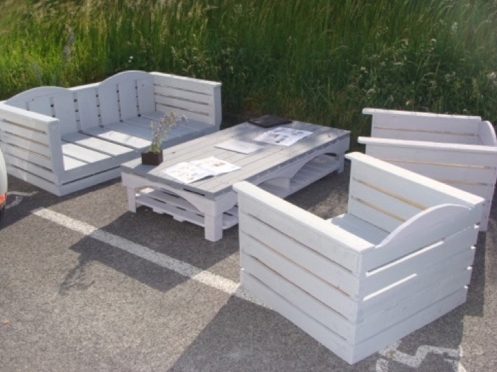 Plan salon de jardin en palette europe - Meuble en palette salon jardin ...