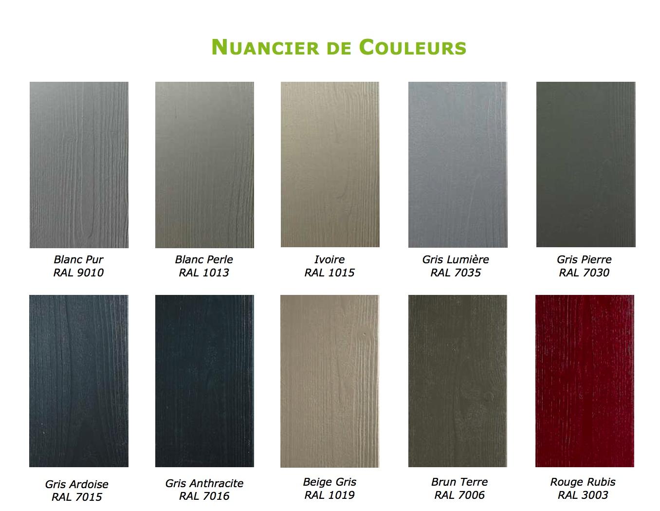 Rabovert n li couleur nouvelle gamme de bardages for Nuancier peinture gris perle